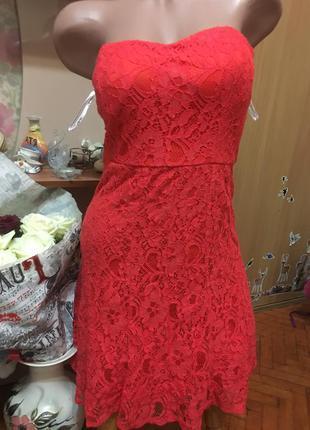 Очень красивое красное платье papaya