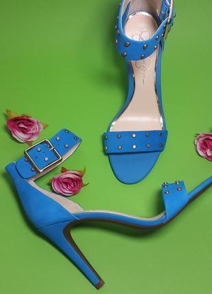 Jessica simpson оригинал открытые кожаные босоножки на шпильке бренд из сша