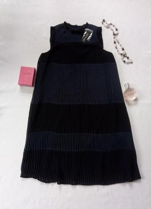Шикарное платье плиссе, платье трапеция, очень стильное платье