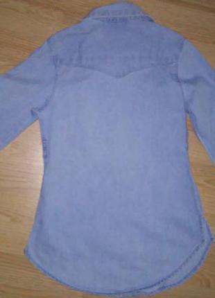 Джинсовая рубашка here&there на рост 128 см3 фото