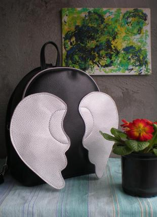 "Рюкзак handmade ""серебристые крылья"""