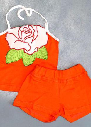 Новый (с биркой) летний комплект (костюм) оранжевый