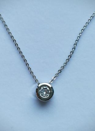 Камушек на леске камень серебро качество превосходное подвеска кулон