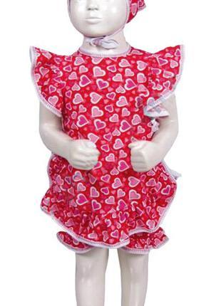 Новый летний комплект (костюм) красный