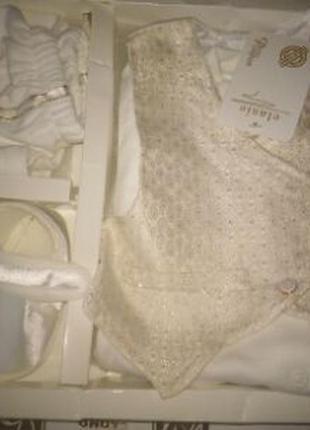 Классный костюм для выписки из роддома, крестильный набор, набор одежды