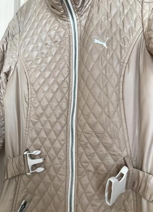 """Спортивная демисезонная куртка с поясом фирмы """"puma"""""""