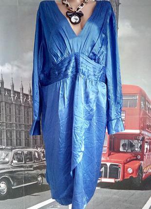 Шикарна шовкова яскрава сукня, батал, великий розмір