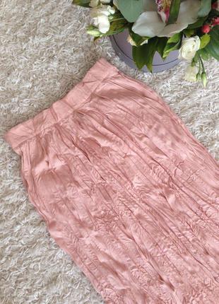 Пудровая юбка в пол