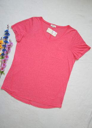 Меланжевая футболка с карманом большого размера papaya