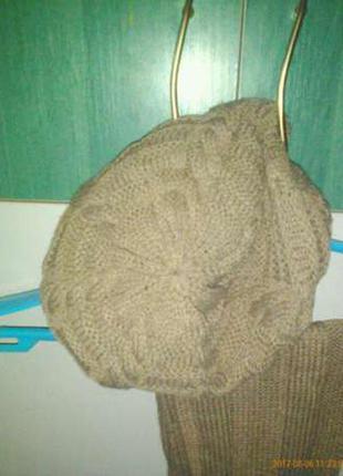 Комплект: берет + шарф