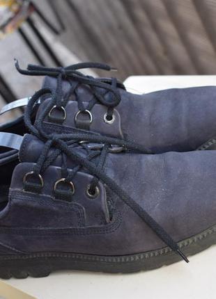 Кожаные туфли мокасины р.41 26,5-27 нубук екко ecco оригинал