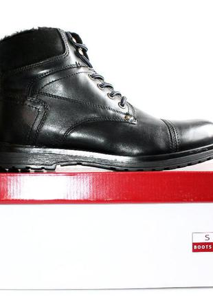 Мужские зимние ботинки s&g boots and shoes натуральная кожа мех 40-41