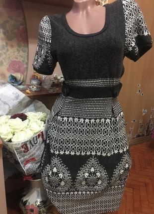 Очень красивое теплое платьице lavand