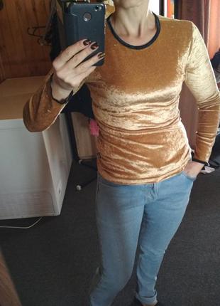 Велюровая золотая кофточка, ,big star,p m l