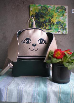 """Рюкзак handmade """"зеленый зайка"""""""