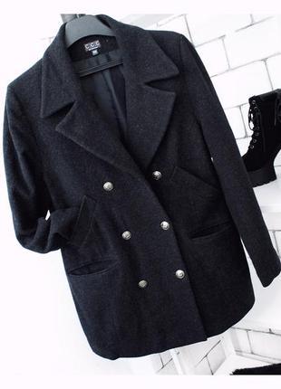 Шерстяное пальто оверсайз бойфренд на весну качество