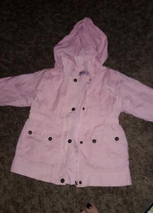 Курточка легкая для девочки 6-7 лет
