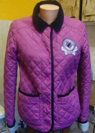 Куртка весенняя на синтепоне стеганая сереневая leu look 8/36 s