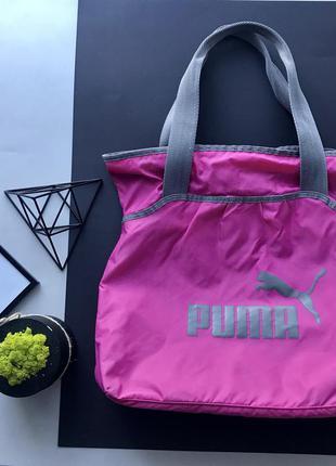 Спортивная сумка розовая с серым сумка в спорт зал /для спорта puma