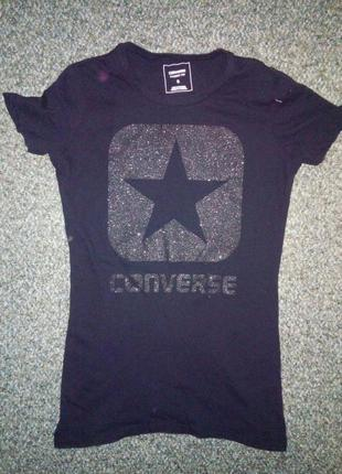 Converse черная футболка