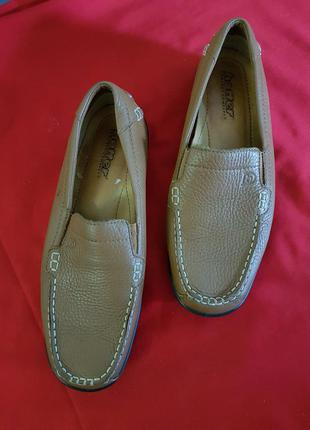 Кожаные коричневые туфли hotter