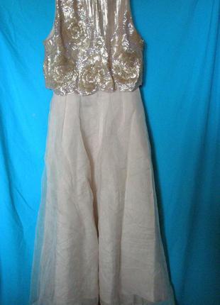 Нарядное длинное платье coast