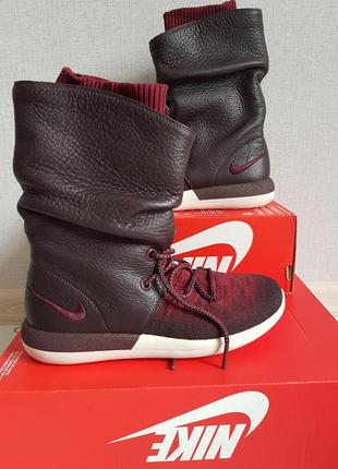 dedd921a976c11 Сапоги nike roshe two hi flyknit 2 deep burgundy women boot р.38.5 оригинал!