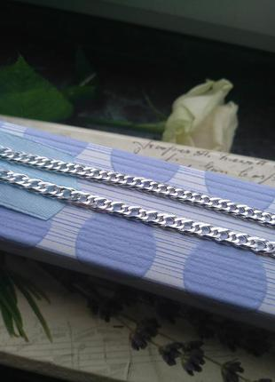 Красивая серебряная цепочка 925 пробы,  длина 55см