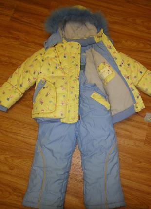 Шикарный зимний комбинезон + куртка wewins на девочку р.92 (2-4 года)