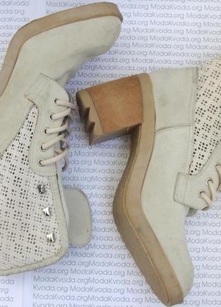 Нубук ботинки