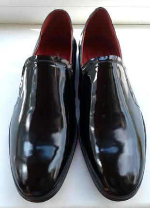 Лаковые туфли-мокасины. стелька 29см