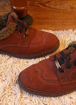 Эксклюзивные итальянские туфли на меху expedition