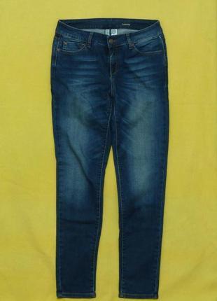 Темно-синие стильные джинсы