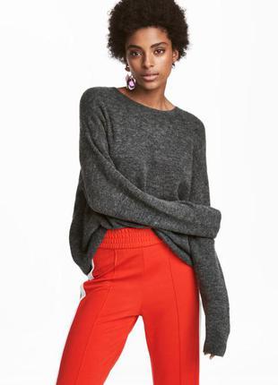 Самая низкая цена, дешево!!! темно серый графитовый свитер кофта с шерстью очень мягкий