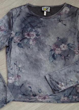 Актуальная велюровая-бархатная кофточка,топ,блуза р.s