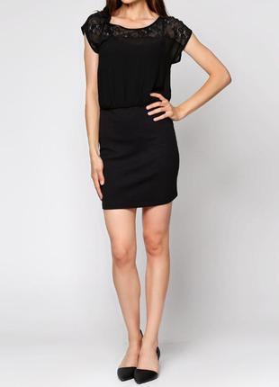 Легкое платье чёрное vila