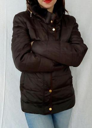 Оливковая куртка l-xl