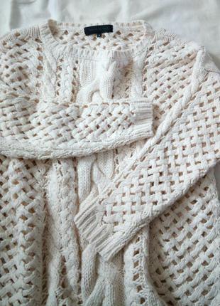 Оригинальный свитер в свободном стиле с косами river island