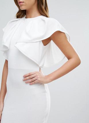 Club l текстурированное мягкое эластичное платье с воланами