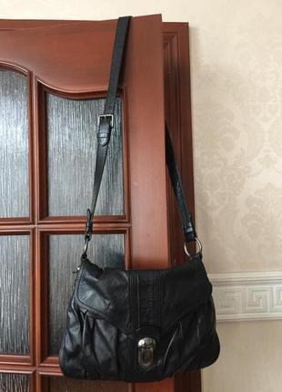 Francesco biasia ( furla coccinelle ) кожаная сумка кроссбоди италия