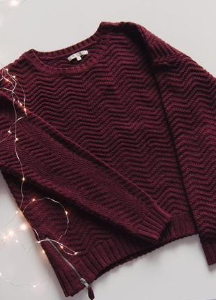 Бордовый свитер love knitwear bhs