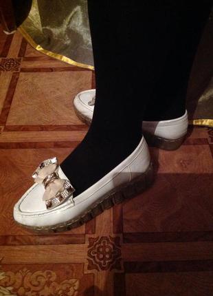 Балетки туфли на тракторной подошве
