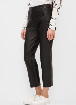 Кожаные брюки с высокой талией 💯% кожа