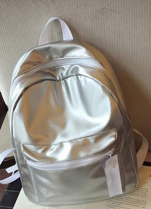 Рюкзак женский.серебро