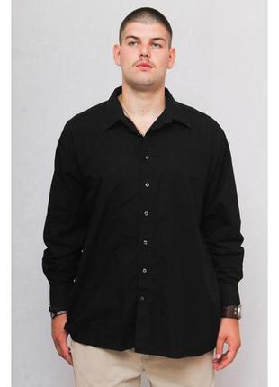 Рубашка однотонная черная мужская paul smith (xl)