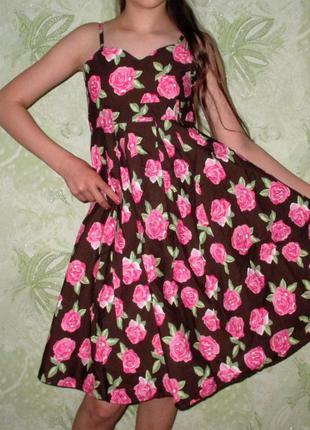 Нарядное праздничное летнее платье matalan, рост 140-146 см