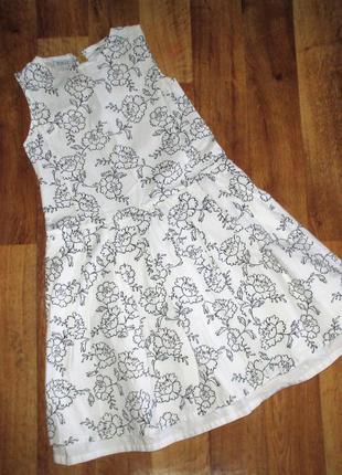 Нарядное летнее праздничное платье, рост 140-146 см