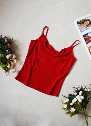 Красный блестящий топ dorothy perkins