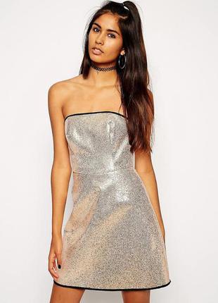 Блестящее платье asos