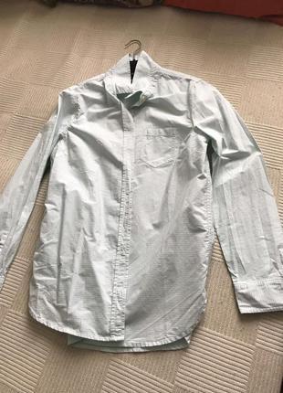 Офисная рубашка в полоску от gap